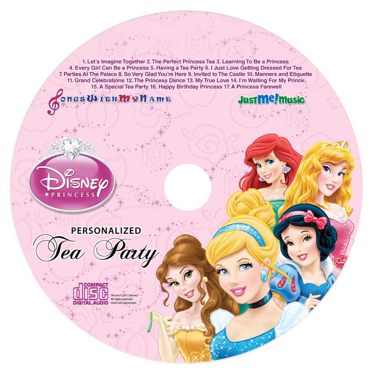 all the princess songs